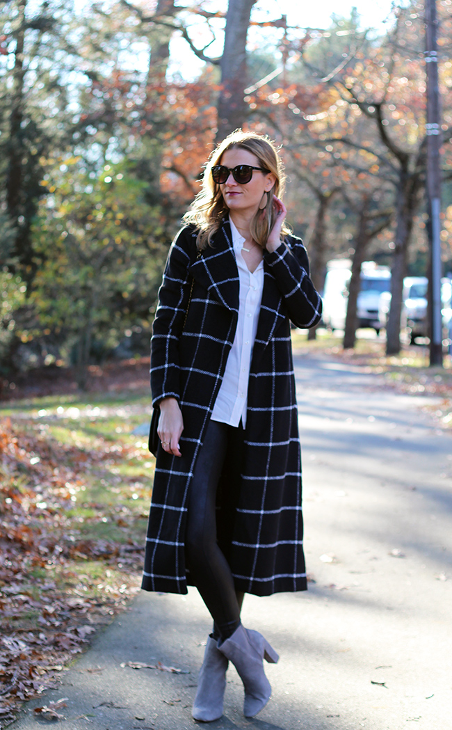 Finishing your look with a long coat