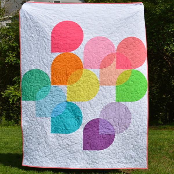 cozy birdhouse | rainbow hold tight quilt