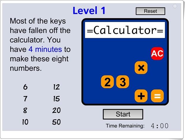 Calculadora rota Cálculo mental de Educación Secundaria