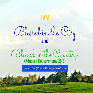 I am blessed in the city and I am blessed in the country. (Adapted Deuteronomy 28:3)
