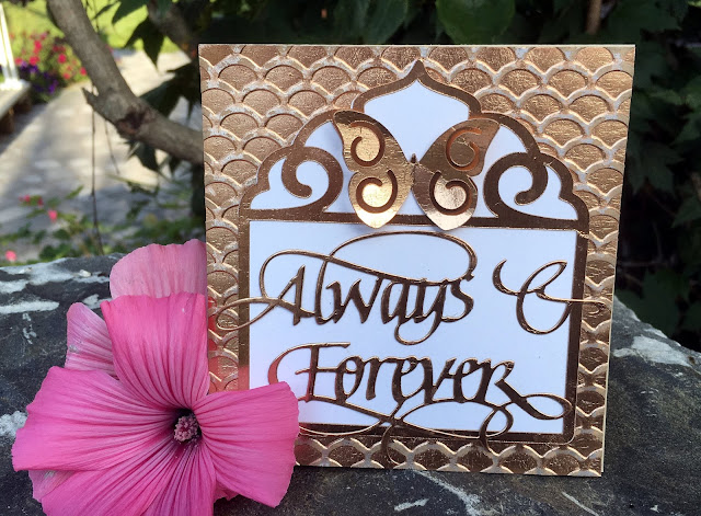 Quietfire Creations Always And Forever Butterfly Frame Card