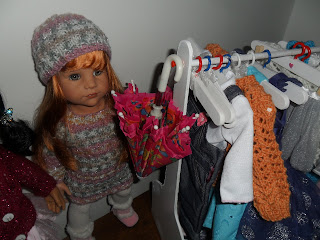 DIY doll clothes caddy