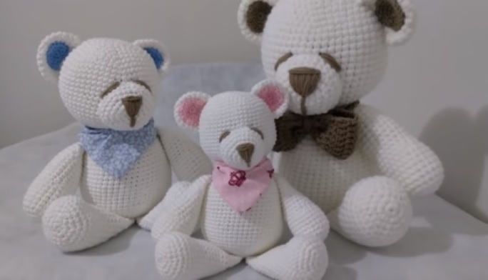 PAP Urso Panda Amigurumi - Passo a Passo Urso panda de Crochê - YouTube | Urso  panda, Urso, Bichinho | 392x684