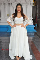 Telugu Actress Amyra Dastur Stills in White Skirt and Blouse at Anandi Indira Production LLP Production no 1 Opening  0080.JPG