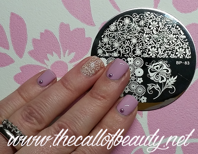 Floral Negative Space Manicure