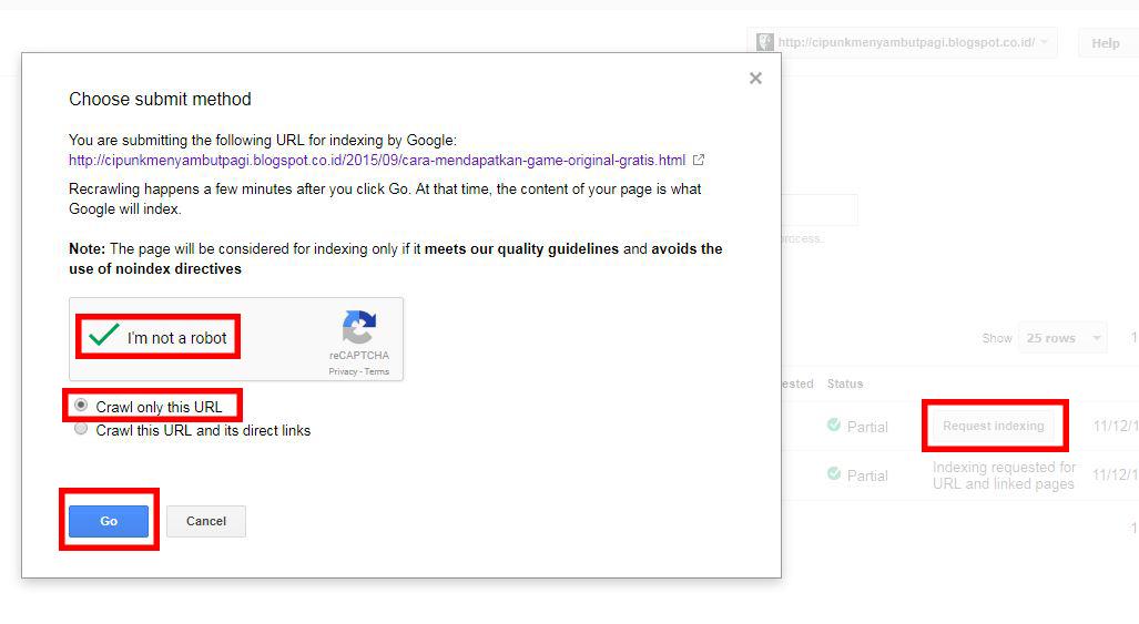 cara submit link ke webmaster tool