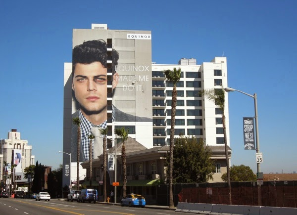 Giant Equinox Black eye billboard Mondrian