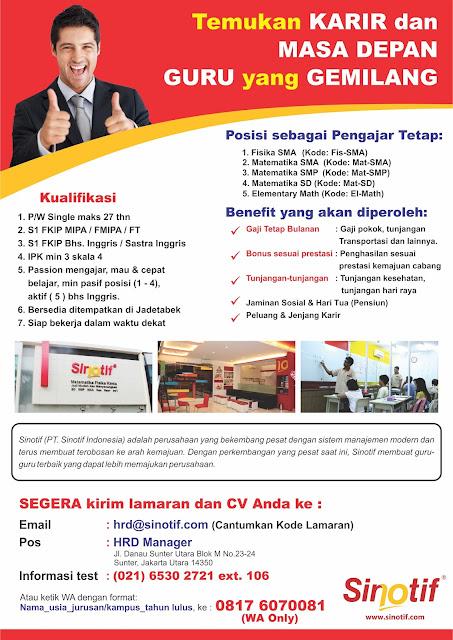 PT. SINOTIF INDONESIA
