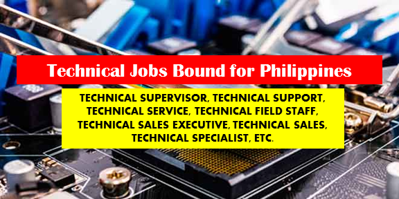Are you an experienced Technical looking for a job? The following are job vacancies for you. If interested, you may contact the employer/ agency listed below to inquire further or to apply.   TECHNICAL JOBS VACANCY  1. TECHNICAL SUPERVISOR Apply before August 20, 2017 Salary: 3,000.00 - 25,000.00 PHP / month·Full time Posted 20 days ago and deadline of application is on 20 Aug Qualification: Candidate must possess at least Bachelor's/ College Degree in Engineering (ECE, EE, Com Eng) or equivalent. Job level: Associate / Supervisor Industry: Human Resources / HR Vacancy: 1 opening Website: http://www.icrescere.com  Office Address: Quezon City, Metro Manila, Philippines  2. TECHNICAL SUPERVISOR Apply before June 30, 2017 Full time Qualification: Must be a graduate of at least 2 years vocational course Job level:  Fresh Grad / Entry Level Industry: Facilities Services Vacancy: 15 openings Office Address: 422 OAC Building, #27 San Miguel Avenue, Ortigas Center, Pasig City, PH  3. TECHNICAL WRITER Apply before May 25, 2017 Full time Minimum Qualifications: Must have good English communication skills both in writing and in speaking. Job level: Associate / Supervisor Industry: Information Technology / IT Vacancy: 1 opening Website: https://networks.nokia.com/ph/directory Office Address: Nokia-Manila Technology Center Building | UP Ayala Land Technohub, Commonwealth Avenue, Diliman, Quezon City, Metro Manila, Philippines  4. TECHNICAL RECRUITER Apply before May 31, 2017 Full time Job level: Associate / Supervisor Job category: Human Resources Educational requirement: Graduated from college Industry: Management Consulting Vacancy: 5 openings Website: http://www.asiaselect.ph Office Address: Makati, Metro Manila, Philippines  5. TECHNICAL SUPPORT REPRESENTATIVE Apply before July 30, 2017 Salary: 18,000.00 - 22,000.00 PHP / month·Full time Job level: Fresh Grad / Entry Level Job category: IT and Software Educational requirement: Graduated from high school Industry: Business Pr