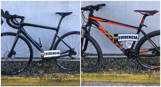 PDI Osorno recupera bicicletas y detiene a dos jóvenes