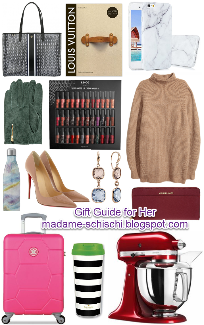 Madame Schischi: Christmas gift guide - best gifts for her....