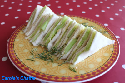 Lady sandwiches - cucumber: Carole's Chatter