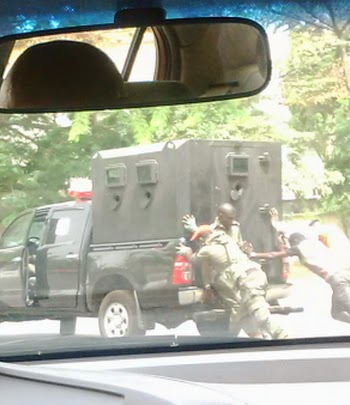 police van breaks down abuja