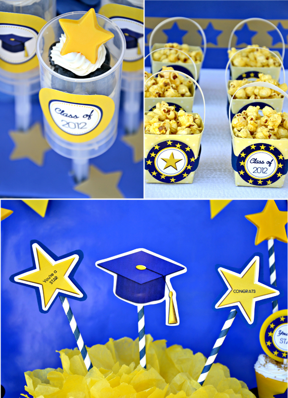 Graduation Party Ideas & FREE Party Printables - via BirdsParty.com