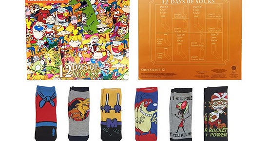 1baa0c99bf6 JCPenney and Kohl's Launch '90s Nickelodeon 12 Days of Socks Advent  Calendars