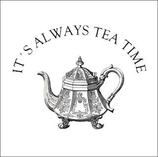 "Картинка для декупажа ""Чай""."