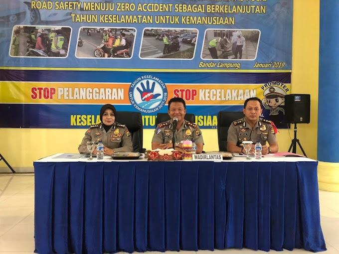 Tanggal 3 February 2019 Polda Lampung Adakan Milenial Road Safety  Festival