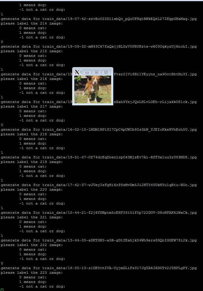 Generate image dataset from one folder, label each image one
