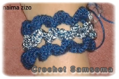 طريقة عمل الغرزة اللولبية بالكروشيه . كروشيه اكسسوارات يد  .How to  Crochet a Curly Cue . اكسسورات كروشيه . كروشيه الشكل اللولبي . الشكل الحلزوني بالكروشيه .