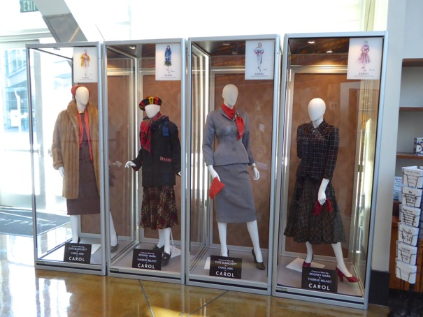 Carol movie costume exhibit