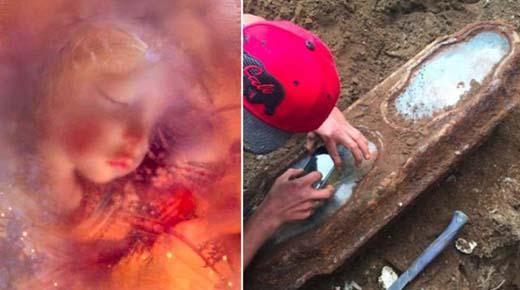 Misteriosa niña bien conservada de otro siglo encontrada en un ataúd de cristal a sido identificada