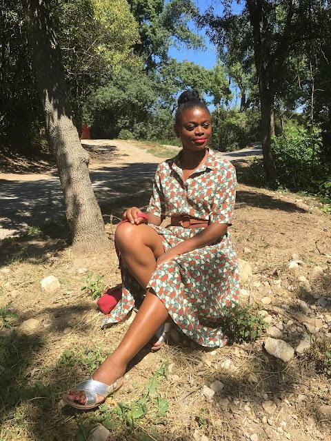 robe campagnarde, tenue d'été, robe d'été, porter une robe d'été en automne, la robe d'été en hiver, à la campagne, une blogueuse à la campagne
