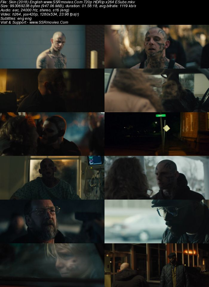 Skin (2018) English 720p HDRip x264 950MB ESubs Movie Download