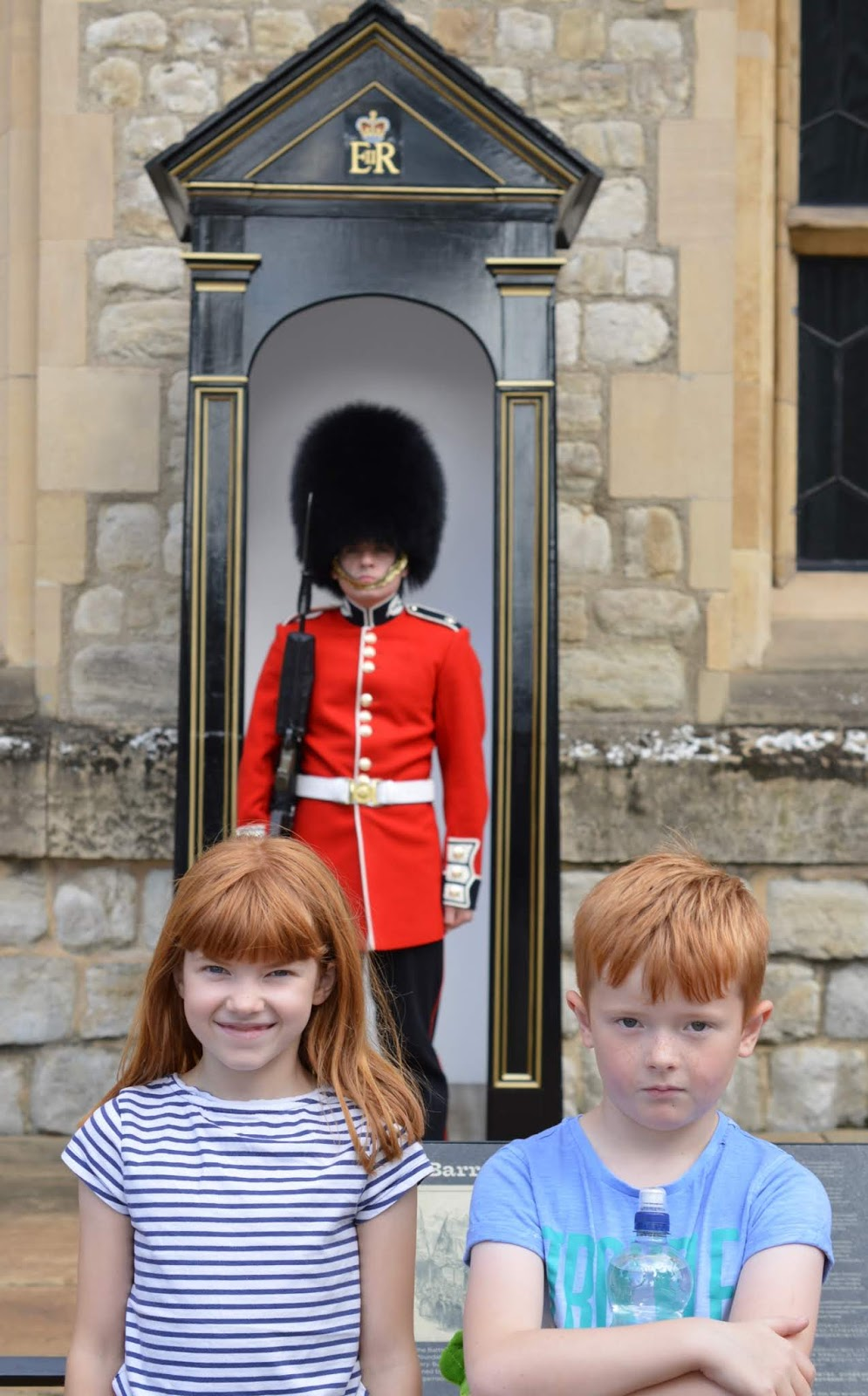 The LNER Family Return Ticket Newcastle-London. #OurLNER #FamilyReturn  - meeting the Queen's guard
