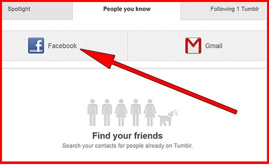 how to find facebook friends on tumblr