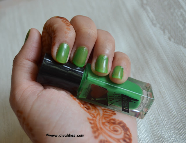 Sally Hansen I Heart Nail Art Neon Nail Color Hot Wasabi Swatch