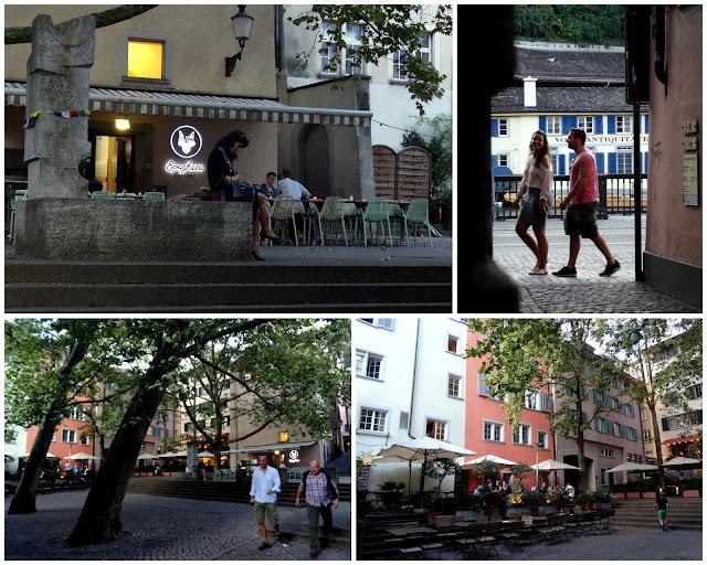 Beer garden Niederdorf Quarter Zurich Old Town