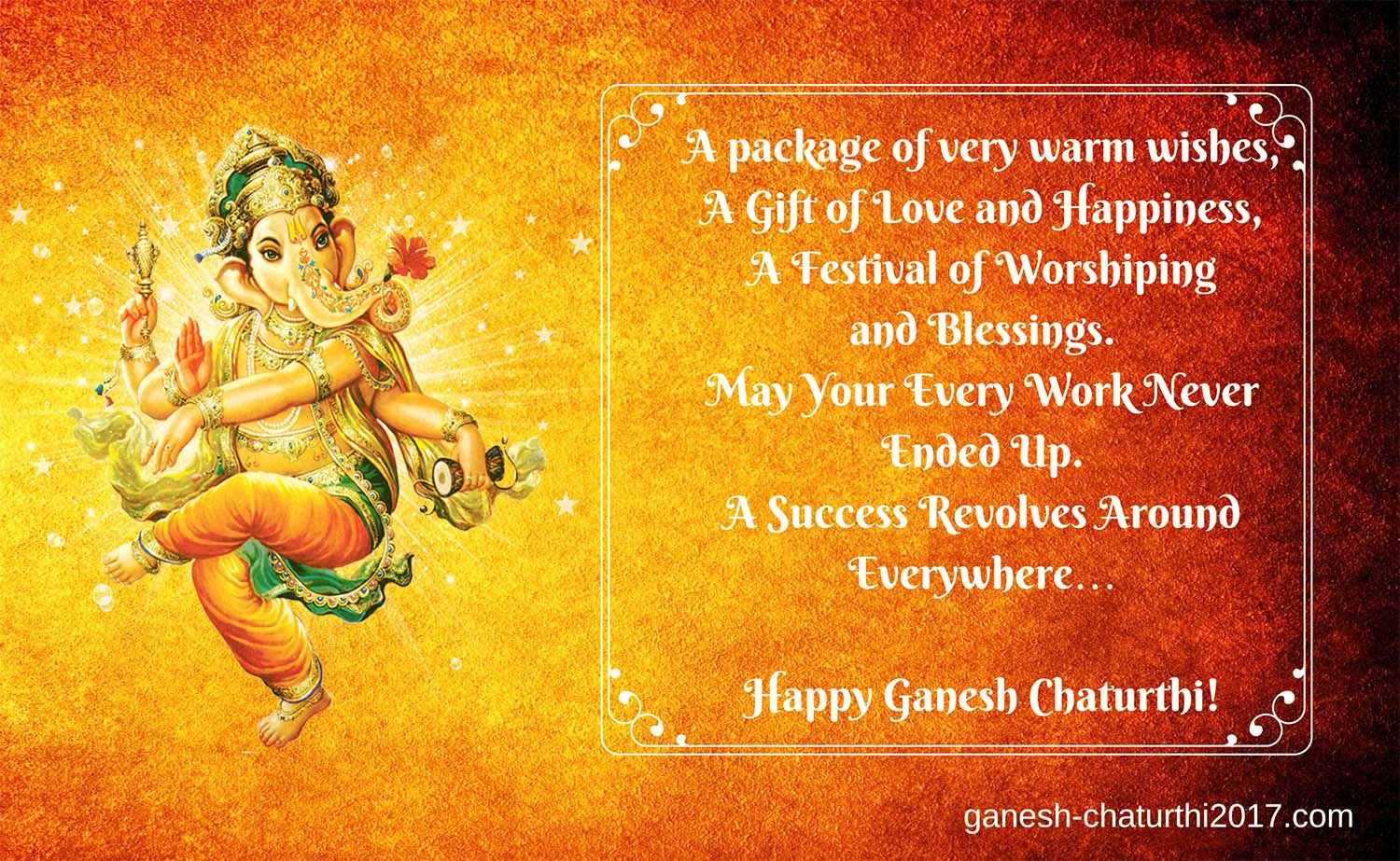 Ganesh Chaturthi Wishes in English