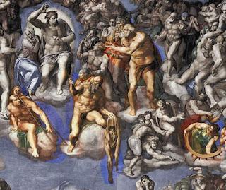 Michelangelo Juizo Universal santos Pedro Catarina Bartolomeu Lourenco - O Juízo Final do Michelangelo