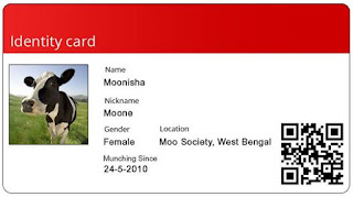 Cow Photo ID card, West Bengal
