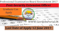 Professional Examination Board Recruitment 2017– 384 Social Security Extension Officer