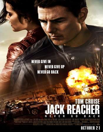 Poster Of Jack Reacher: Never Go Back 2016 English  300MB HC  720p HEVC Free Download Watch Online 300Mb.cc