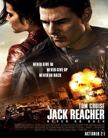 Poster Of Jack Reacher: Never Go Back 2016 In Hindi Bluray 720P Free Download