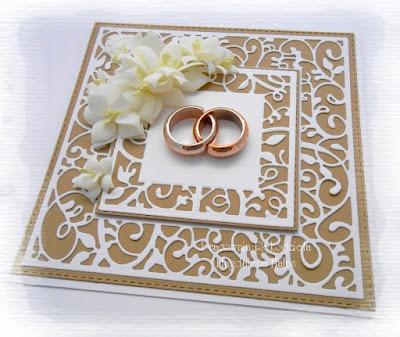 Kartka ślubna z obrączkami…