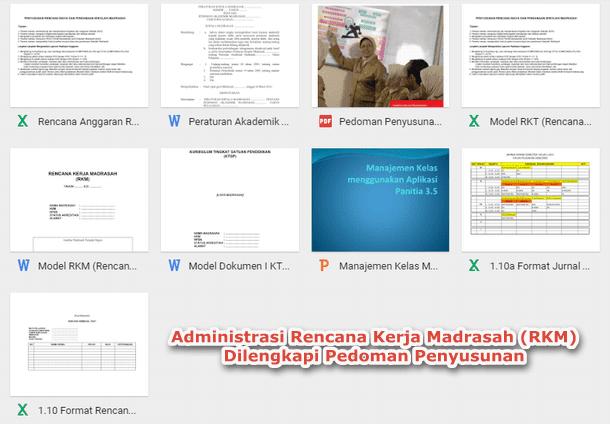 Administrasi Rencana Kerja Madrasah (RKM) Dilengkapi Pedoman Penyusunan