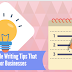 6 Quick Article Writing Tips That Works for Businesses