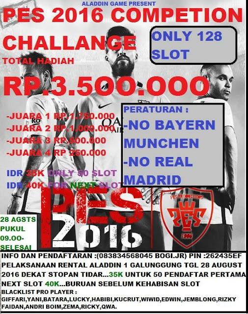 Info Kompetisi PES 2016 di Malang Agustus 2016