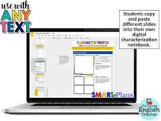 Using digital interactive notebooks to teach characterization in the middle school and high school English classroom
