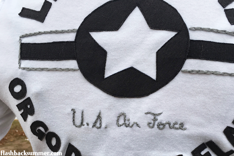 Flashback Summer: vintage 1940s style Air Force shirt