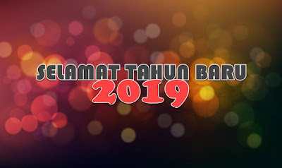 gambar bokeh selamat tahun baru 2019 terbaru