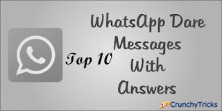 Whatsapp Dare Messages With Answer
