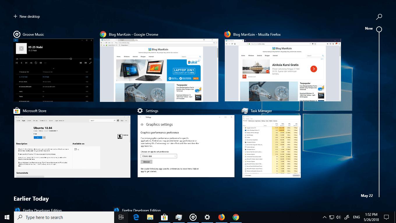 Cara Menggunakan Timeline Windows 10