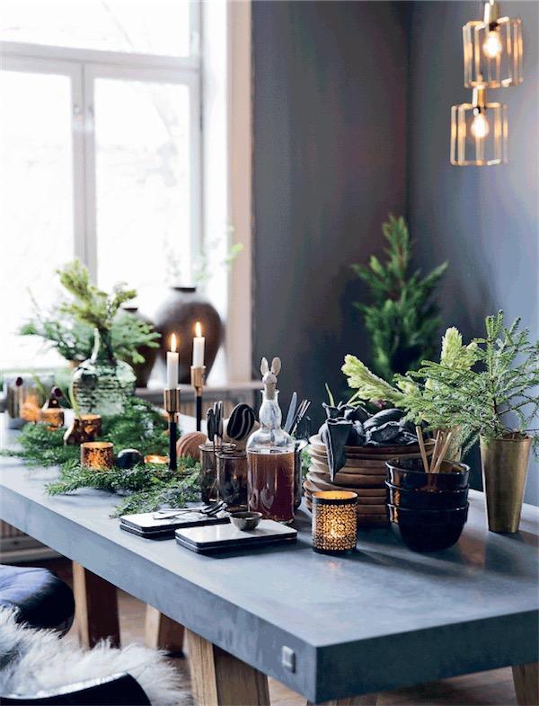 mesa decorada de Navidad chicanddeco