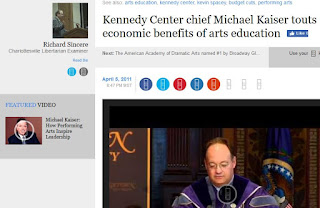 Michael Kaiser Jack DiGioia Kennedy Center Examiner.com arts education