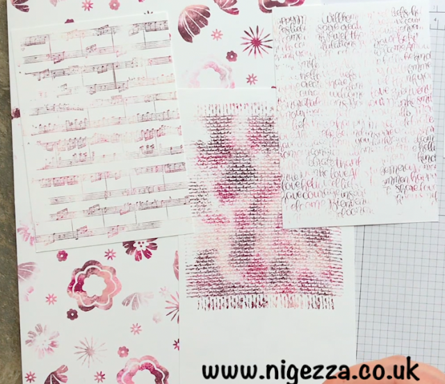 Stampin Up Nigezza Creates Baby Wipe Technique