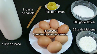 Crema Catalana. Ingredientes